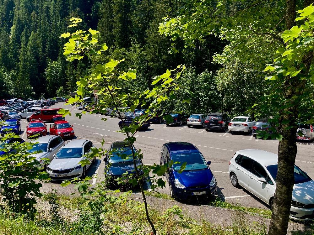 Parkování u Gosausee