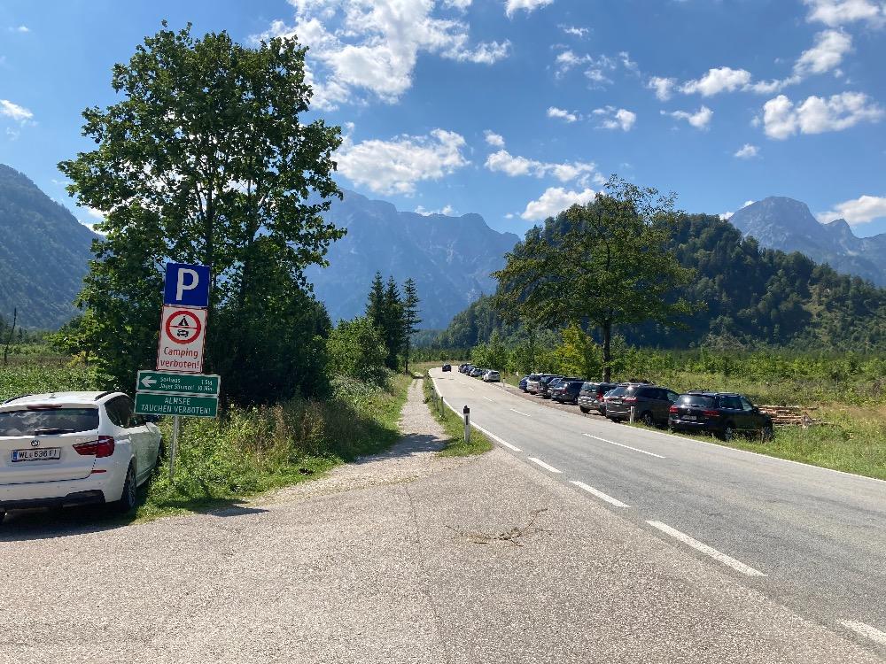 Parkování u Almsee, Rakouská jezera